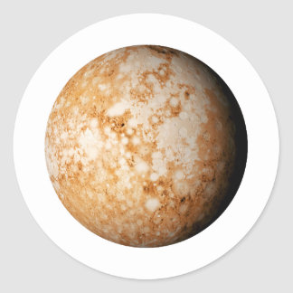 PLANET  PLUTO (solar system) ~~ Classic Round Sticker