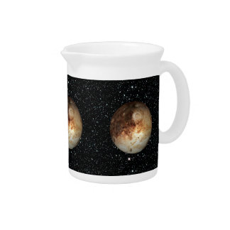 PLANET PLUTO star background ( solar system) ~ Drink Pitchers