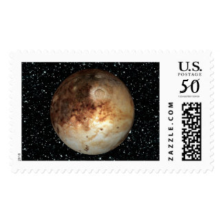 PLANET PLUTO star background ( solar system) ~.jpg Postage