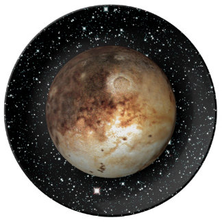 PLANET PLUTO star background ( solar system) ~ Plate