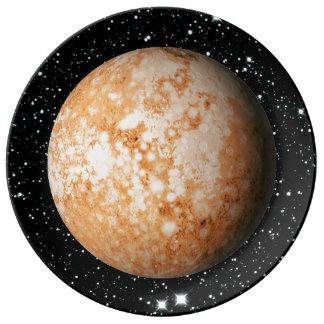 PLANET  PLUTO star background (solar system) ~ Porcelain Plate