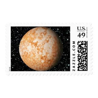 PLANET  PLUTO star background (solar system) ~ Postage