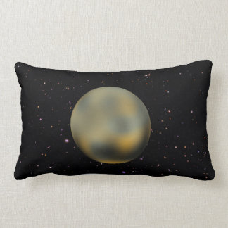 Planet Pluto Starry Sky Lumbar Pillow