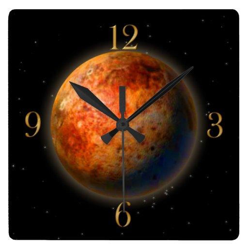 Planet Pluto & Stars Astronomy-lovers Wall Clock