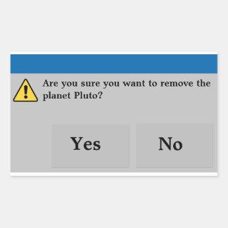 Planet Pluto Stickers