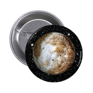 PLANET PLUTO v.2  star background (solar system) ~ 2 Inch Round Button