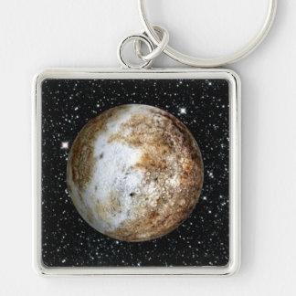 PLANET PLUTO v.2  star background (solar system) ~ Keychain