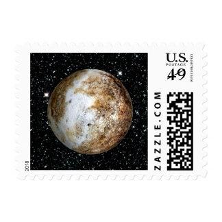 PLANET PLUTO v.2  star background (solar system) ~ Postage