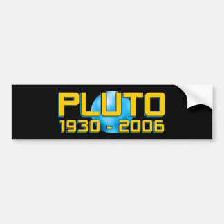 Planet Pluto WTF!? Funny Astronomy Bumper Sticker
