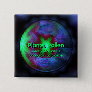 Planet Pollen Pinback Button