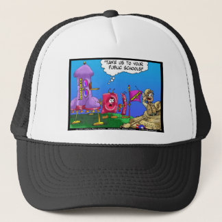 Planet Prophylactica Invades Earth Funny Gifts Trucker Hat