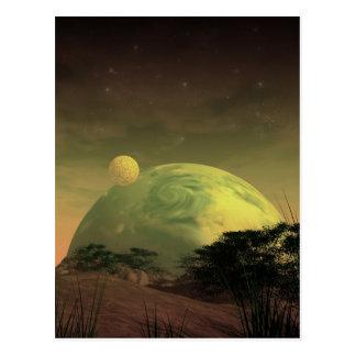 Planet Rise Postcard