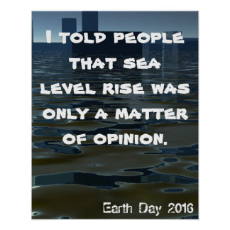 Planet Rising Sea Level Climate CricketDiane Earth Poster