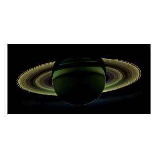 Planet Saturn Cassini Mission 2012 Poster