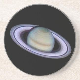 Planet Saturn Coaster. Sandstone Coaster