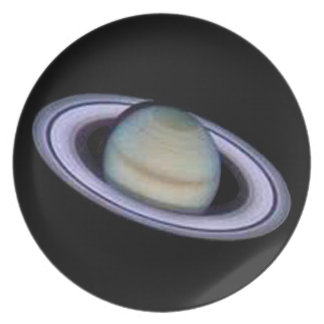 Planet Saturn Dinner Plate. Melamine Plate