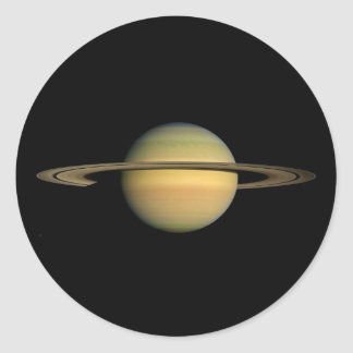 PLANET SATURN DURING EQUINOX (solar system) ~~ Classic Round Sticker