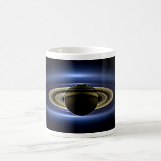 Planet Saturn in Front of the Sun Coffee Mug