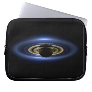 Planet Saturn in Front of the Sun Laptop Sleeve