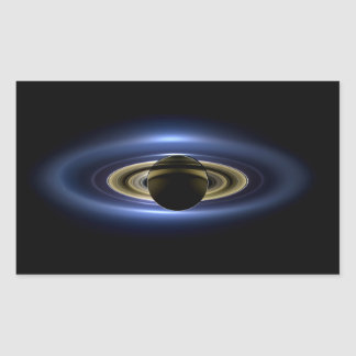 Planet Saturn in Front of the Sun Rectangular Sticker