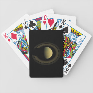 Planet Saturn Jewel of the Solar System Bicycle Poker Cards