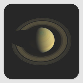 Planet Saturn Jewel of the Solar System Square Sticker