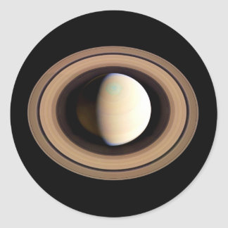 PLANET SATURN natural (solar system) ~~ Classic Round Sticker