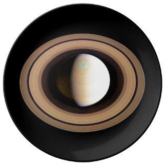 PLANET SATURN natural (solar system) ~~ Porcelain Plate
