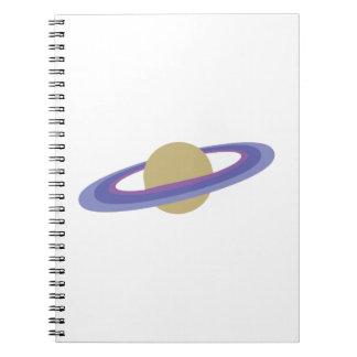 Planet Saturn Spiral Notebooks