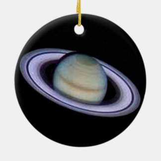 Planet Saturn Ornament. Ceramic Ornament