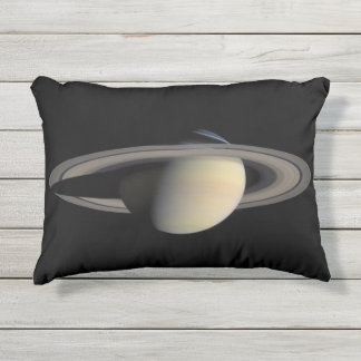 Planet Saturn Outdoor Accent Pillow