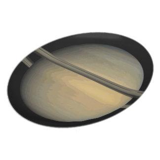 Planet Saturn Plate