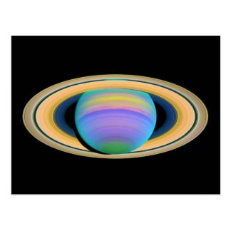 Planet Saturn s Rings in Ultraviolet Light Post Card