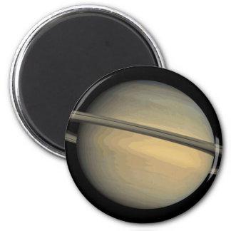 Planet Saturn Solar System 2 Inch Round Magnet