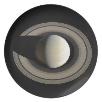 PLANET SATURN (solar system) ~ Party Plate