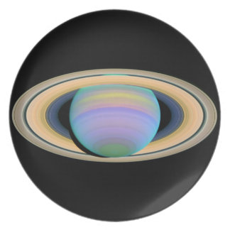 Planet Saturn Space Plate