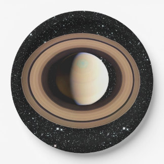 PLANET SATURN star background (solar system) ~~ Paper Plate