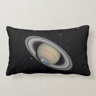 Planet Saturn Starry Sky Lumbar Throw Pillow