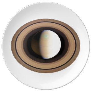 PLANET SATURN v.2 (solar system) ~~ Porcelain Plate