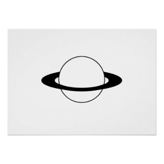 Planet Saturn with Rings Print