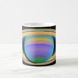 Planet Saturn's Rings as Seen in Ultraviolet Light Coffee Mug