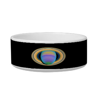 Planet Saturn's Rings in Ultraviolet Light Bowl