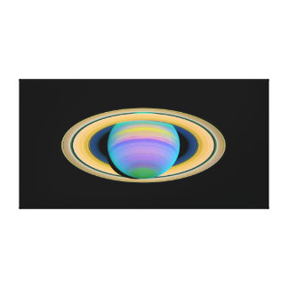 Planet Saturn's Rings in Ultraviolet Light Canvas Print