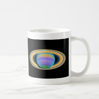 Planet Saturn's Rings in Ultraviolet Light Coffee Mug