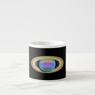 Planet Saturn's Rings in Ultraviolet Light Espresso Cup