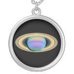 Planet Saturn's Rings in Ultraviolet Light Custom Jewelry