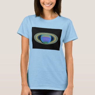 Planet Saturn's Rings in Ultraviolet Light T-Shirt