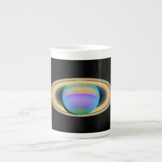 Planet Saturn's Rings in Ultraviolet Light Tea Cup