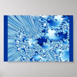 Planet Sky Blue Vortex Poster