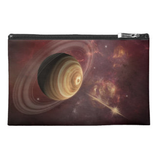 Planet, stars and Sun in Galaxy Fantasy Art Travel Accessory Bags